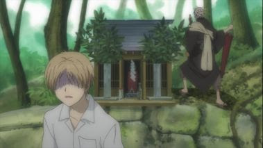 The shrine near the Kyuuharaigawa bridge in Natsume Yuujinchou 2