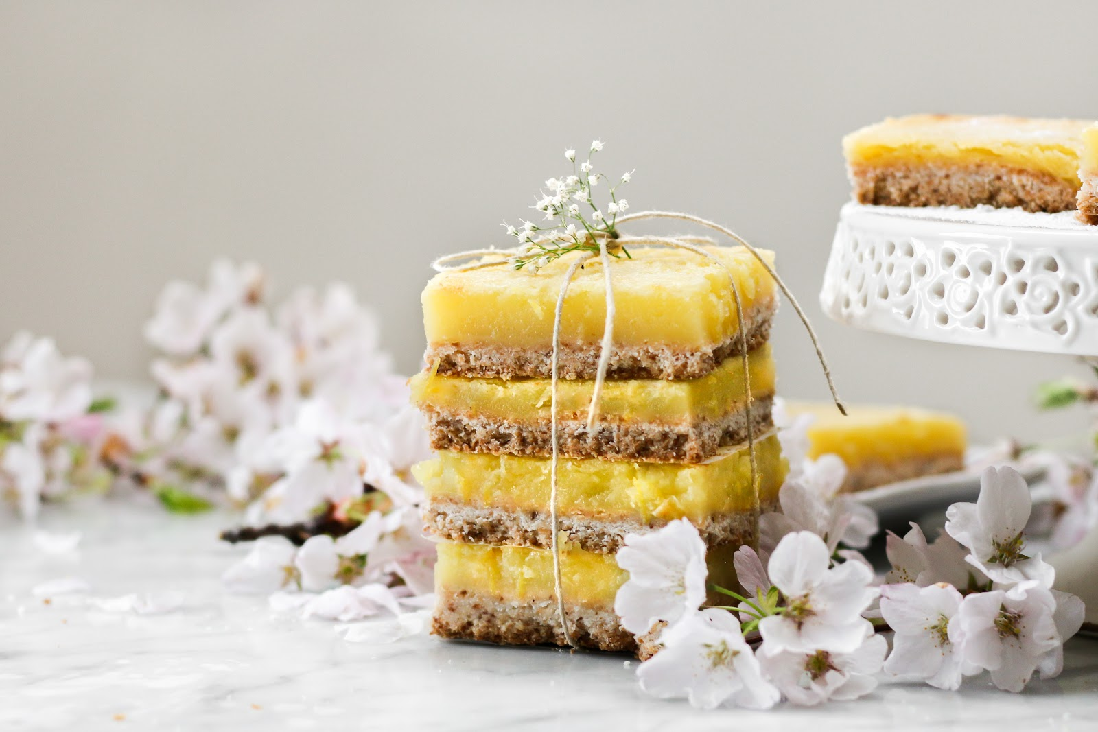 Dairy Free Coconut Lemon Bars