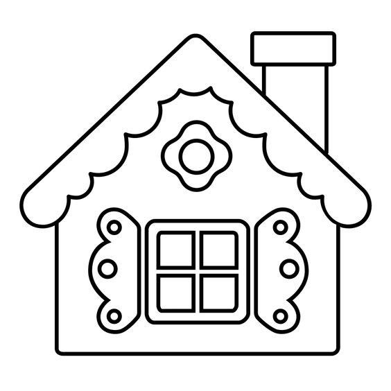 Tranh tô màu ngôi nhà cho bé mầm non 6