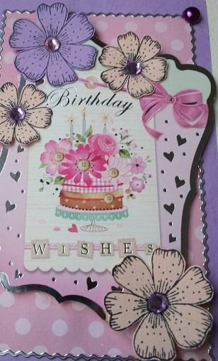 Pink Handmade Birthday Card