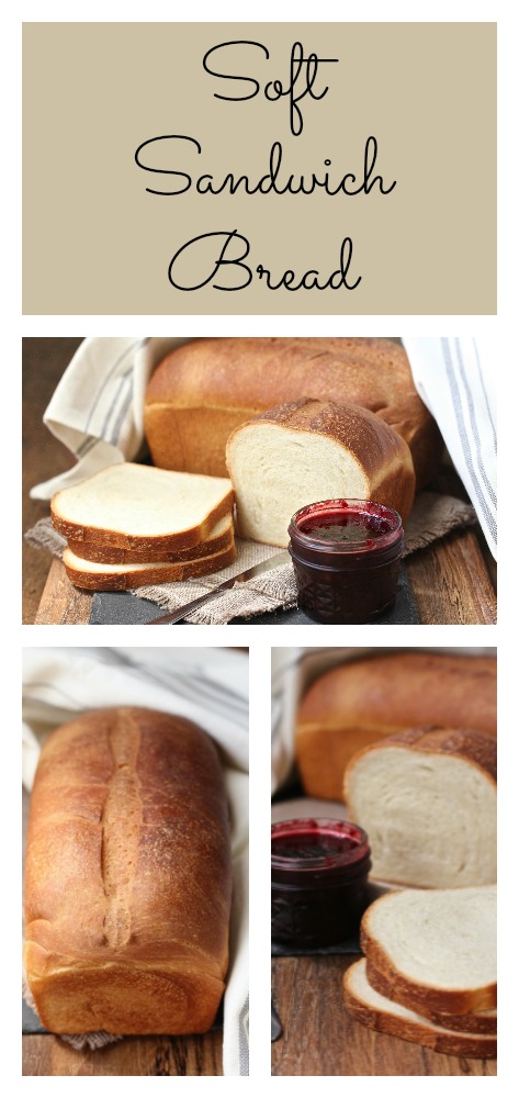 This soft sandwich bread is perfect for back to school lunch box sandwiches.