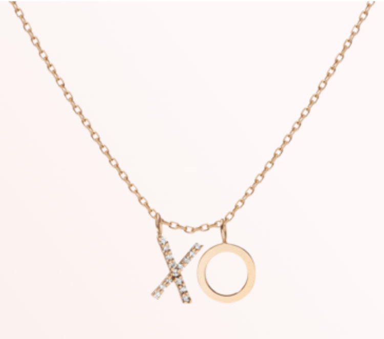 Aurate xo necklace