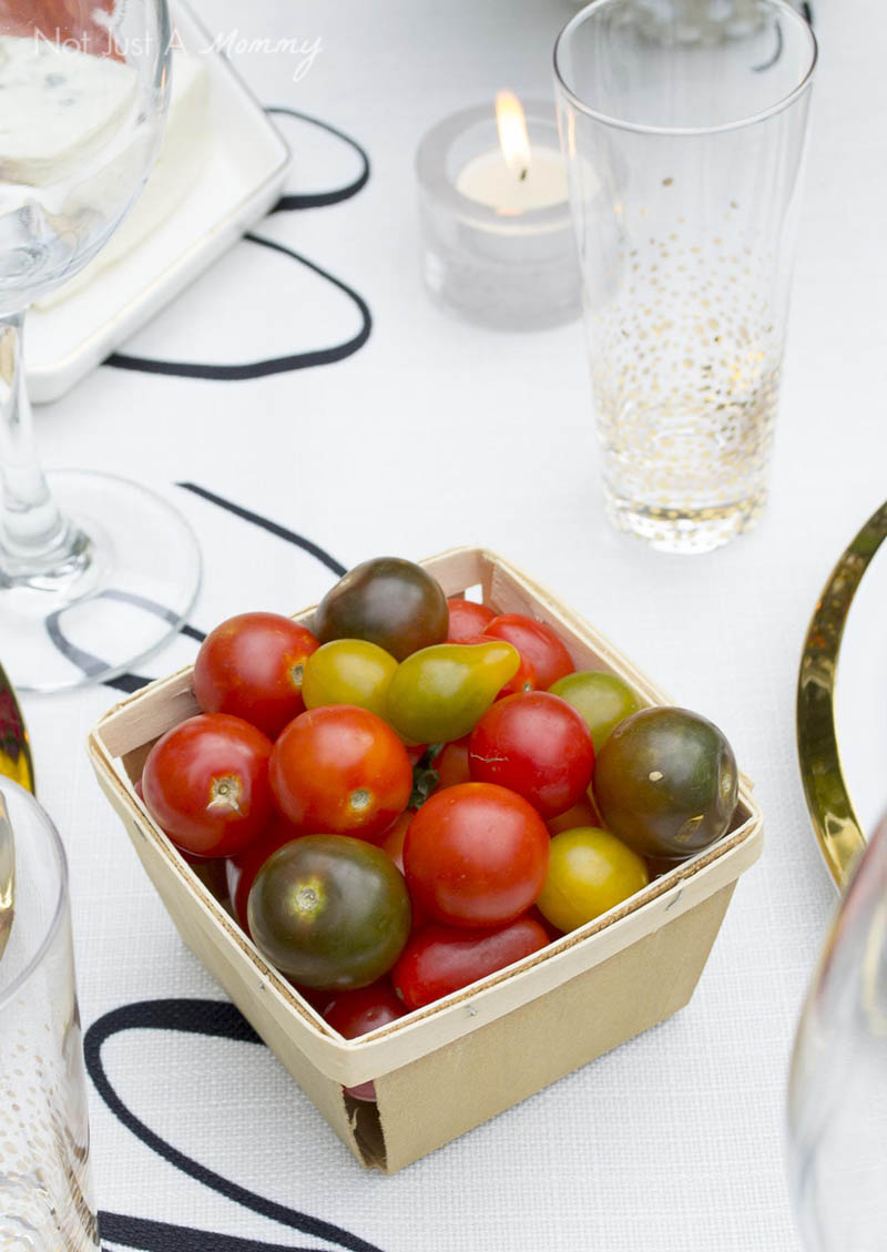How To Throw  A End Of Summer Party In Less Than Two Hours; heirloom tomatoes