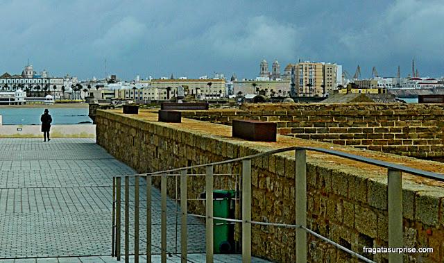 Muralha Norte da Fortaleza de San Sebastián, Cádiz, Andaluzia