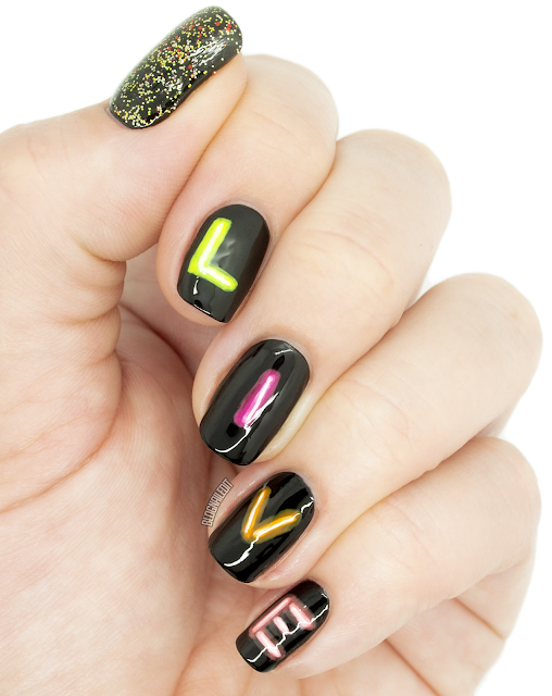 neon sign nails