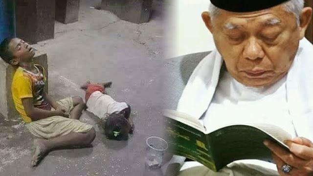 Ma'ruf Amin Sebut Tingkat Kemiskinan Turun