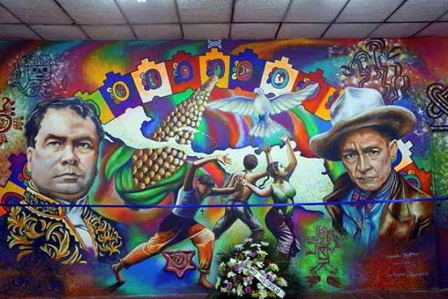 Nicaragua violeta chamorro y miss nicaragua 2016 agaton for Mural nicaraguense