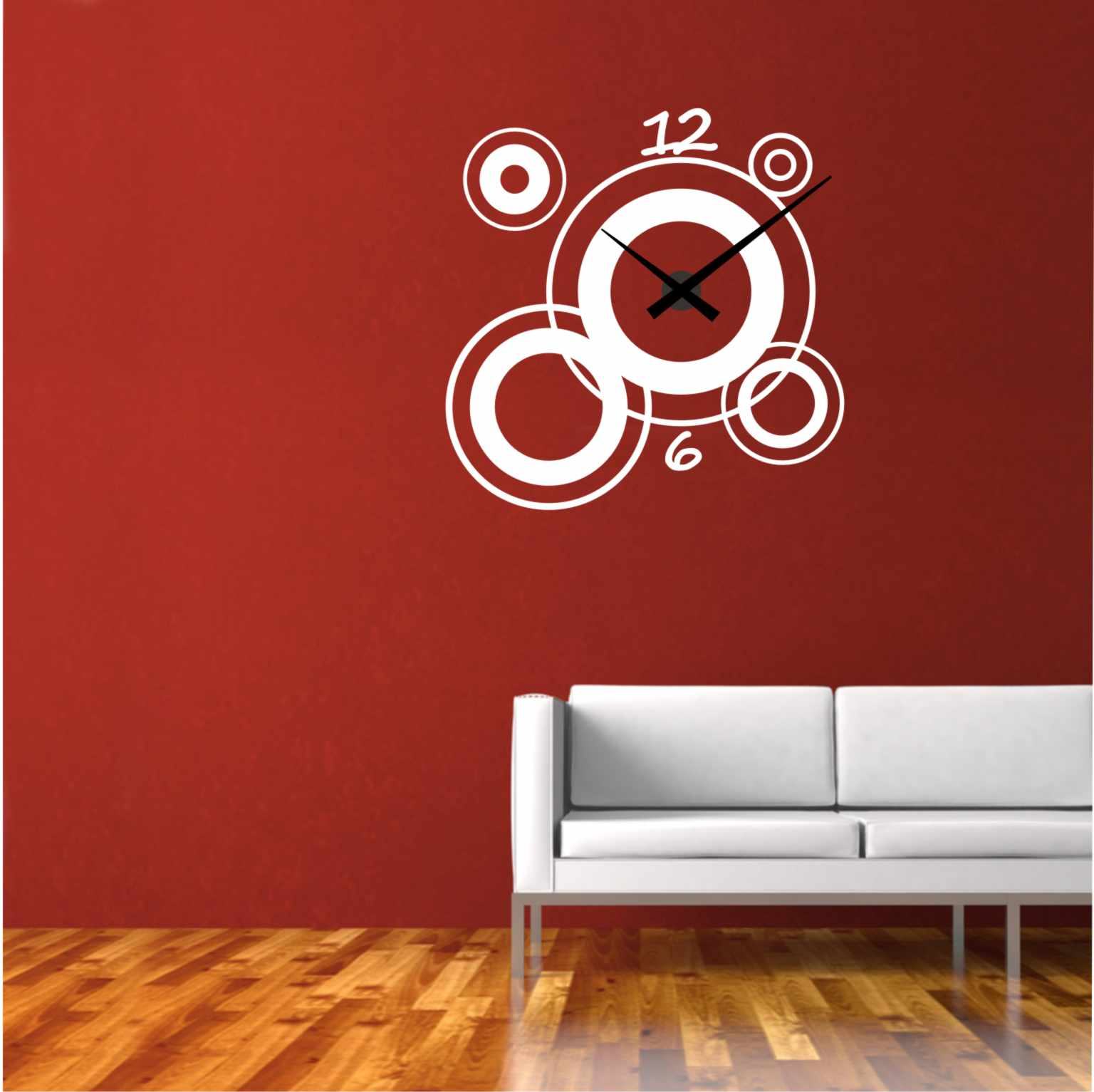 Relojesyvinilos reloj de pared moderno c rculos - Relojes decorativos pared ...