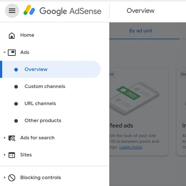 AdSense Ads Overview dashboard