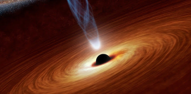 Artist's illustration of a supermassive black hole. Credit: NASA/JPL-Caltech