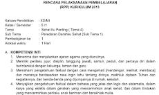 RPP Kelas 5 Tema 4 Kurikulum 2013 Revisi 2018