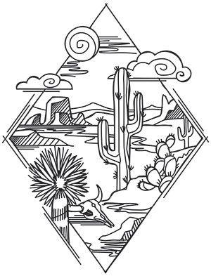 Cactus-Tattoo-Design-Diamond-Desert-Scene