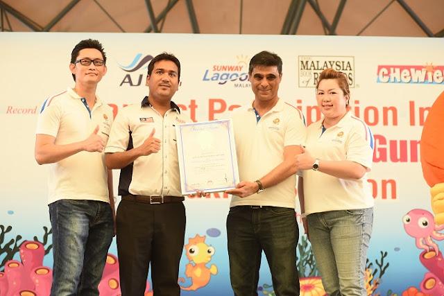 Chewies Malaysia Book Of Records di Sunway Lagoon