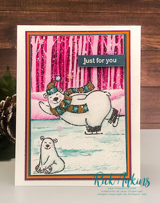Check out my Warm & Toasty Watercolor Card for this week's Color Challenge at the Spot.  Rick Adkins Independent Stampin' Up! Demonstrator