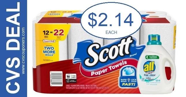 CVS Extrabuck Scott Paper Towels Deal 5-30-6-5