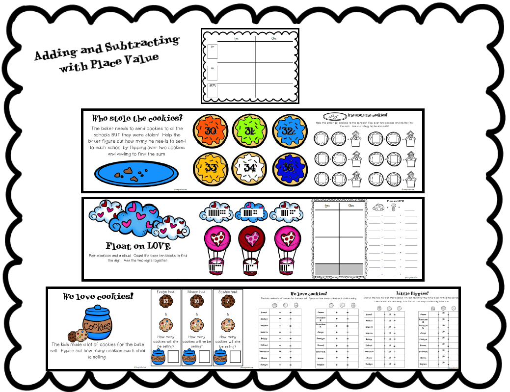 The Go To Teacher Adding And Subtracting With Place Value