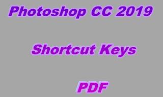 Photoshop CC 2019 Shortcut Keys PDF
