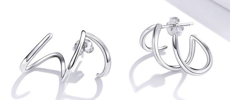 歐美個性簡約風 925純銀耳環