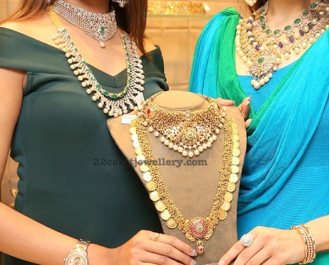 Gold Swirls Kasu Mala by Hiya Jewellery