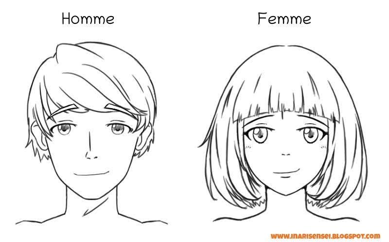 dessiner un homme et une femme style manga