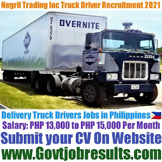 Negril Trading Inc Delivery Truck Driver Recruitment 2021-22