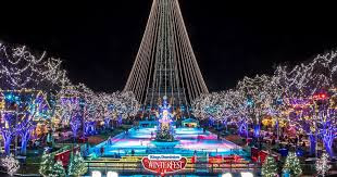 Eiffel Tower and fountains decorated for Christmas