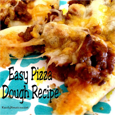 Save money by making your own Pizza dough with this easy dough recipe.  Simply make the pizza dough blanks and add your toppings whenever your kids are hungry for an individual pizza that will please everyone.