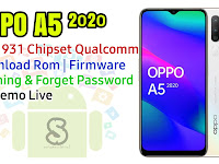 Download Rom Official / Flashing Oppo A5 (2020) Chp1931/Cph1933 Qualcomm Lupa Password, Pola, Fix Demo Live