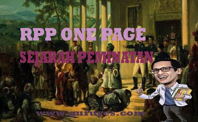 RPP Sejarah Peminatan SMA