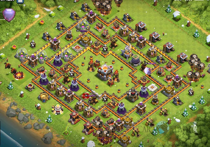 Base Trophy TH 11 COC Update Bomb Tower Terbaru 2017 Tipe 8
