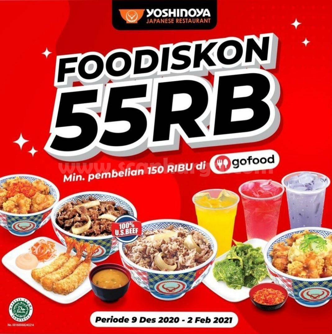 YOSHINOYA Promo FOODISKON GOFOOD! Dapatkan Diskon Rp 50.000