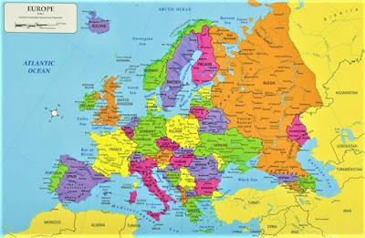 benua eropa peta dunia