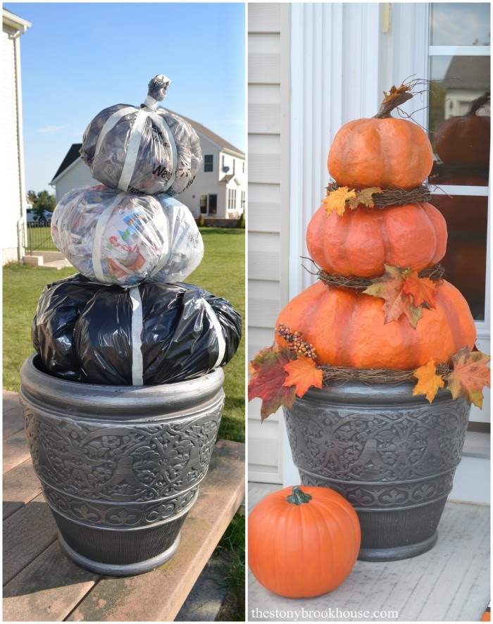 Before and After Outdoor Pumpkins