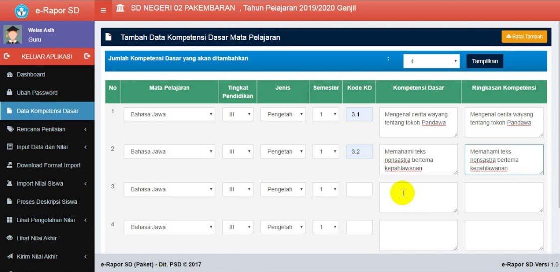 E-Rapor SD Kemendikbud