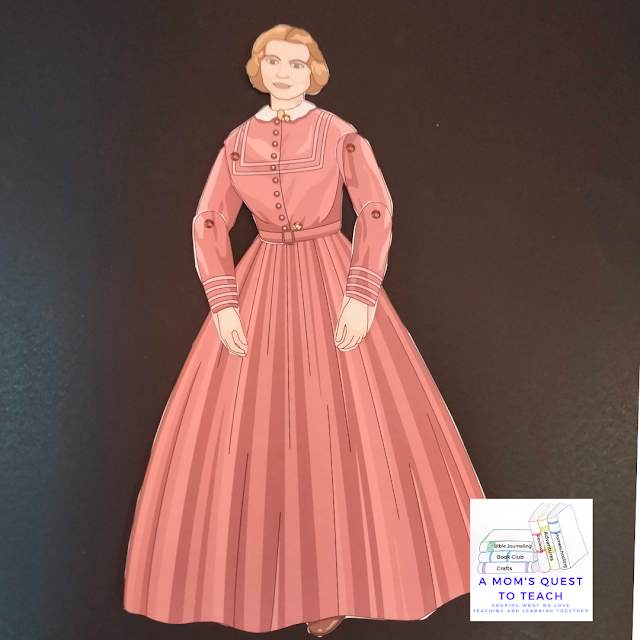 A Mom's Quest to Teach logo Figures in Motion Clara Barton