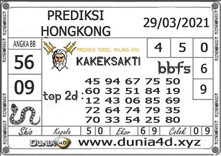 Prediksi Togel Kakek Sakti Hongkong Senin 29 Maret 2021