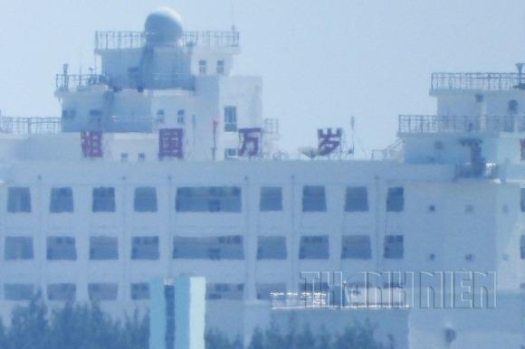 Hình ảnh mới nhất Trung Quốc xây dựng trái phép trên đá Gạc Ma