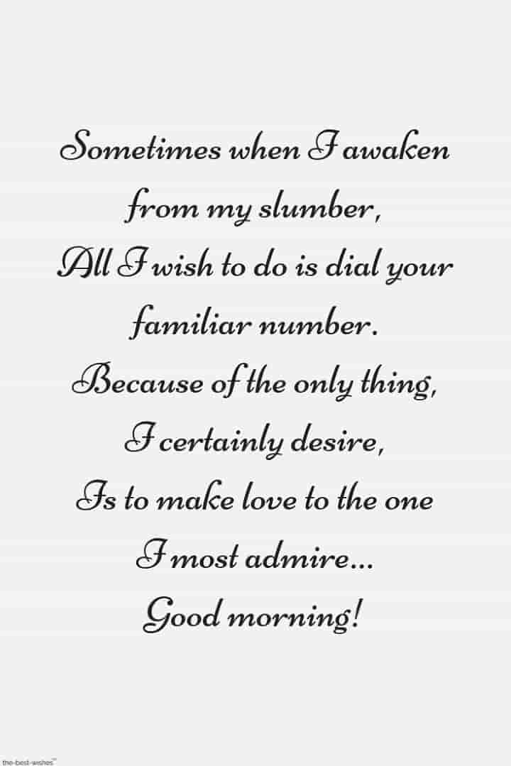 good morning poems to make her smile