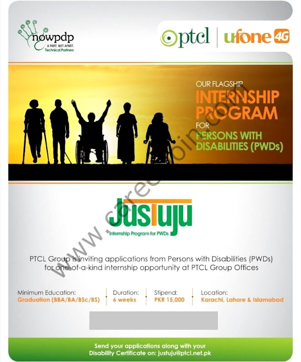 PTCL Ufone Internship Program for Persons with Disabilities PWD 2021