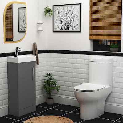 cloakroom toilet and basin vanity units
