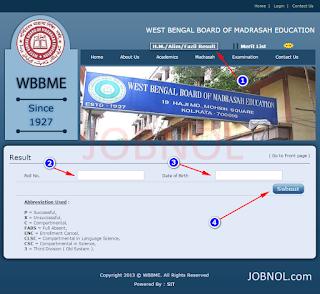 WBBME Fazil, Alim, High Madrasah Exam Result 2016