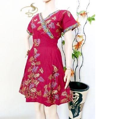 Dress-Batik-Kimono-Bambu-Merah