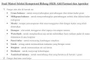 Soal/ Materi Seleksi Kompetensi Bidang (SKB) Ahli Farmasi dan Apoteker