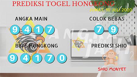 Prediksi Togel Angka Jadi Hongkong HK Jumat 10 Juli 2020