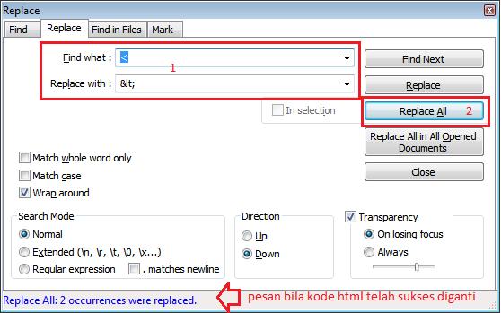 Cara Parse HTML Iklan Yllix dengan Notepad Plus
