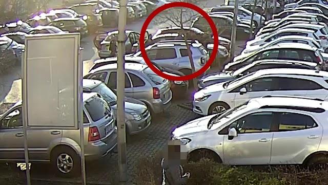 Videón Zsanették botos-golfütős szóváltása a kaposvári parkolóban