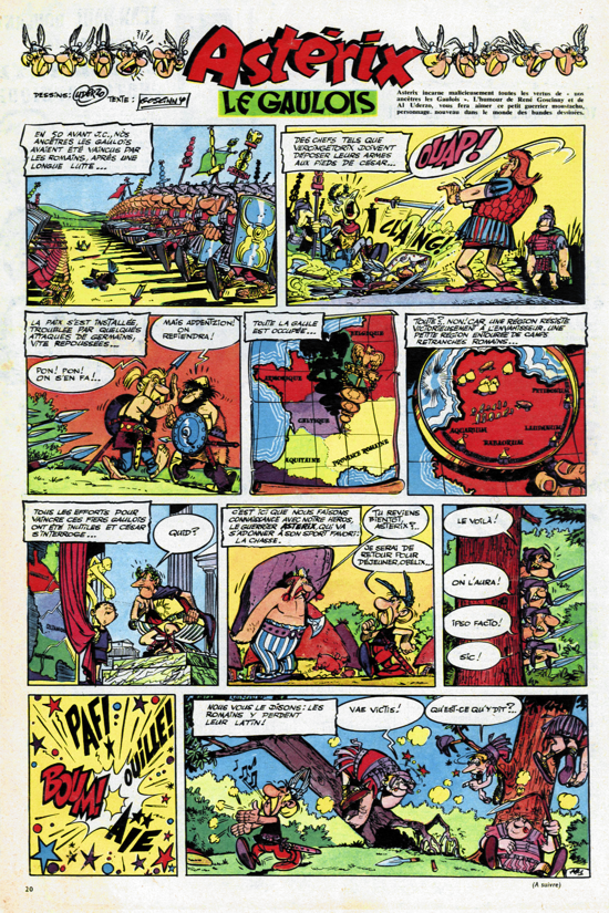 Astérix, the first ever strip