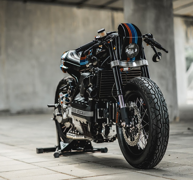 BMW K100 By Ruby Cafe Hell Kustom