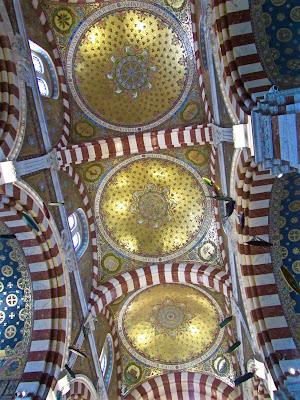 Ceiling of Notre Dame de la Garde Basilica in Marseille