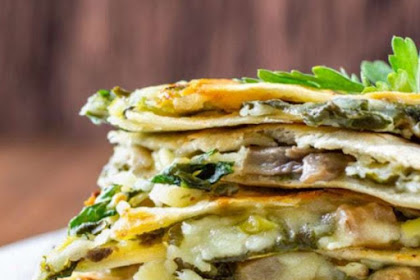 BAKED SPINACH MUSHROOM QUESADILLAS RECIPE